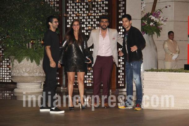 Aditya Roy Kapur, Neha Dhupia, Arjun Kapoor and Sidharth Malhotra, Ambani's dinner party, Ambani's dinner party photos