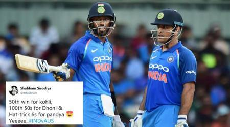 Ind vs Aus: As India clintches victory, Twitterati hail MS Dhoni and Hardik Pandya