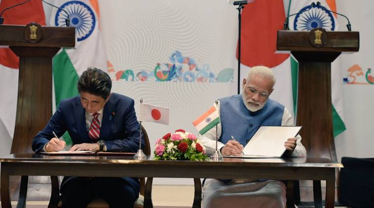 Narendra Modi, Shinzo Abe, Japan, India, India-Japan, India-Japan joint statement, Joint statement full text, Full text, Bullet train, MoUs, 15 MoUs signed, India-japan bilateral relations