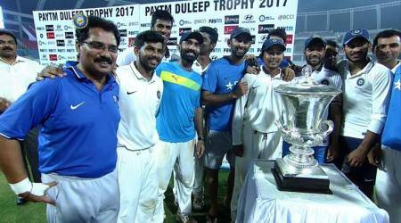 Washington Sundar's five-wicket haul guides India Red to Duleep Trophy title triumph
