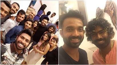 Indian cricket team, Lasith Malinga, Team India dinner photos, Lasith Malinga party, India vs Sri Lanka, india tour of Sri Lanka photos, Cricket photos, Indian Express