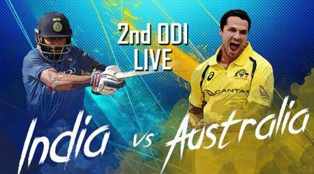 India vs Australia Live Score 2nd ODI at Eden Gardens: India break solid Australia stand as Chahal scalps Head