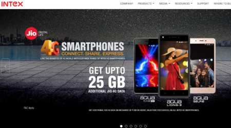 Reliance Jio, Intex, Jio free data Intex users, Intex 4G phones, Reliance Jio free 25GB data