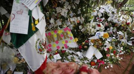 Where buildings fell to quake, memorials rise in Mexico City