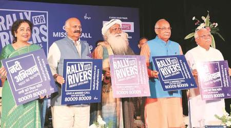 Jaggi Vasudev, Isha Foundation founder Sadhguru Jaggi Vasudev, Rally for Rivers, Punjab and Haryana, Haryana Chief Minister Manohar Lal Khattar, Haryana Governor Kaptan Singh Solanki, Punjab Governor V P Singh Badnore and Chandigarh MP Kirron Kher, Punjab news, Latest news, India news