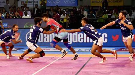 jaipur pink panthers, dabang delhi, jaipur pink panthers vs dabang delhi, pro kabaddi, pro kabaddi 2017, kabaddi stories, indian express