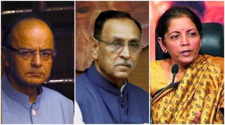 Arun Jaitley, Nirmala Sitharaman and CM Vijay Rupani hold meeting with BJP leaders to chalk out Gujarat poll strategy