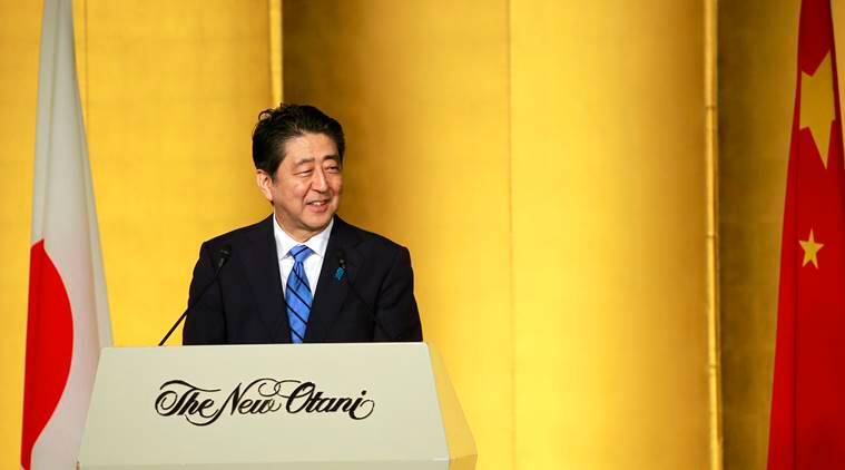 Shinzo Abe , Japan-China ties, Japan-China ties anniversary,  Chinese President Xi Jinping , North Korea Nuclear threat, World News, Indian Express News