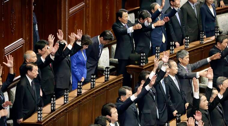 Japan, Shinzo Abe,  general elections, Shinzo Abe, Japan Parliament, Japan Liberal-Democratic Party, Party of Hope, World news, Indian Express