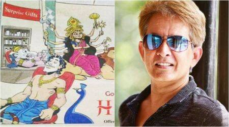 jawed habib, jawed habib trolled, jawed habib hindu god ad, jawed habib ad controversy, jawed habib durga puja ad controversy, indian express, indian express news