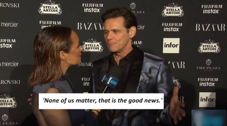 Video: What's up with Jim Carrey? This interview is FREAKY!