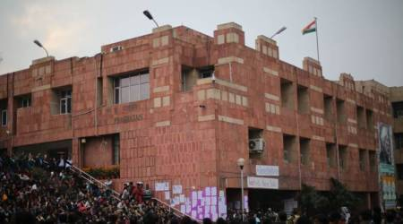 JNU, JNUTA, jnu hostels, jnu courses, raid in hostels in JNU, jnu application, education news, indian express,