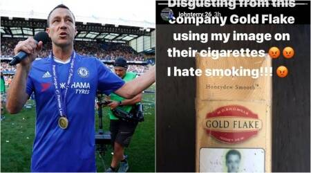 Footballer John Terry is 'disgusted' with Gold Flake for 'using' his image on cigarette packets,again!