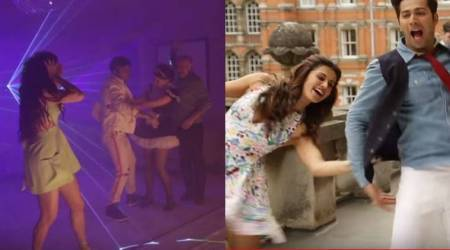 Watch Judwaa 2 song Oonchi Hai Building 2.0 making video: Varun Dhawan gets slapped, spanked, pushed and we are in splits