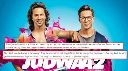 The plot of Judwaa 2 on Wikipedia is the funniest thing you will see today