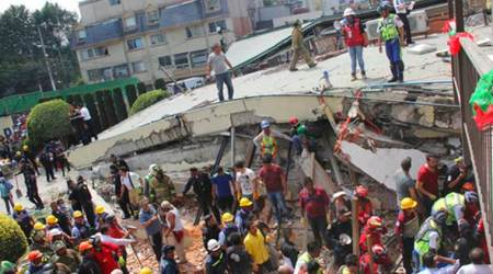 Mexico earthquake toll 361; 8 still missing in collapsed building