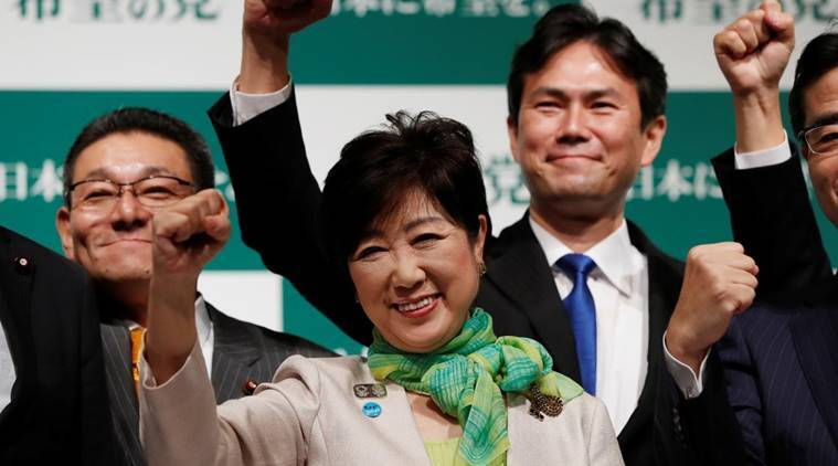 japan general election, japan election, koike japanese elections, abe koike japan elections, world news, indian express news