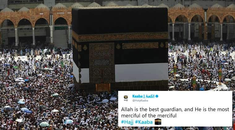 kaaba, kaaba twitter, holy kaaba twitter, kaaba joins twitter, hajj, haj pilgrim, mecca hajj, mecca kaaba, Islam, muslims kaaba, what is kaaba, kaaba significance, indian express