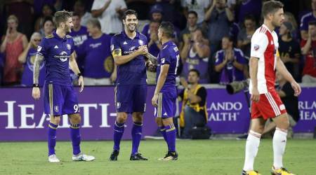 Kaka scores twice in Orlando City's 6-1 win over New England in Major League Soccer