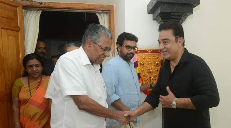 'Not Saffron', Says Kamal Haasan After Lunch With Kerala Chief Minister
