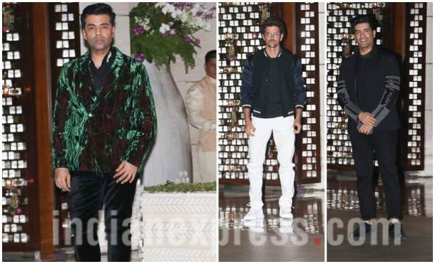 Karan Johar, Hrithik Roshan and Manish Malhotra, Ambani's dinner party, Ambani's dinner party photos