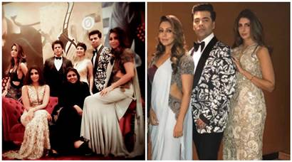 Shah Rukh Khan, Karan Johar, Gauri Khan and Shweta Nanda pose for their own VOGUE cover