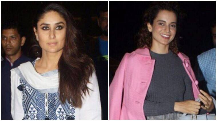 kareena kapoor khan, kangana ranaut, celeb fashion, airport looks, indian express, indian express news