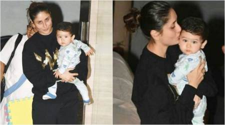 Taimur visits Nani Babita's house with mommy Kareena Kapoor. See photos