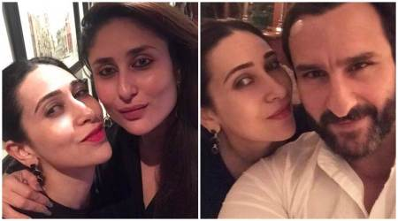Karisma Kapoor goes on a dinner date with Kareena Kapoor and Saif Ali Khan, see theirselfies