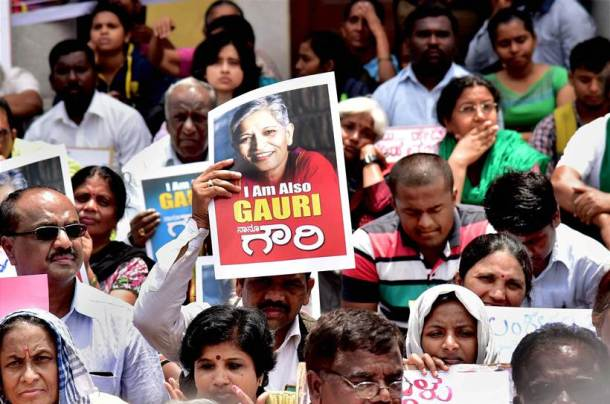 gauri lankesh, gauri lankesh murder, gauri lankesh shot, gauri lankesh killed, journalist killed, gauri lankesh protests, gauri lankesh death, gauri lankesh patrike, journalist murder, latest news, indian express