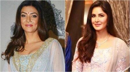 Katrina Kaif, Sushmita Sen paint a pretty picture in Indian wear during Navratri