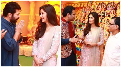 Katrina Kaif joins Mammootty, Manju Warrier, Nivin Pauly, Prabhu and Karthi for Navratri celebrations in Kerala