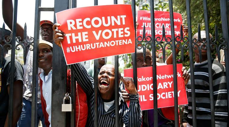 Kenya, Kenya Supreme Court vote, Uhuru Kenyatta, Kenya election, Kenya protests, World news, Indian Express
