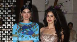 Jhanvi Kapoor, Khushi Kapoor, Ambani's dinner party, Ambani's dinner party photos, khushi jhanvi kapoor looks, khushi kapoor style file, jhanvi kapoor style file, entertainment news, fashion news, lifestyle news