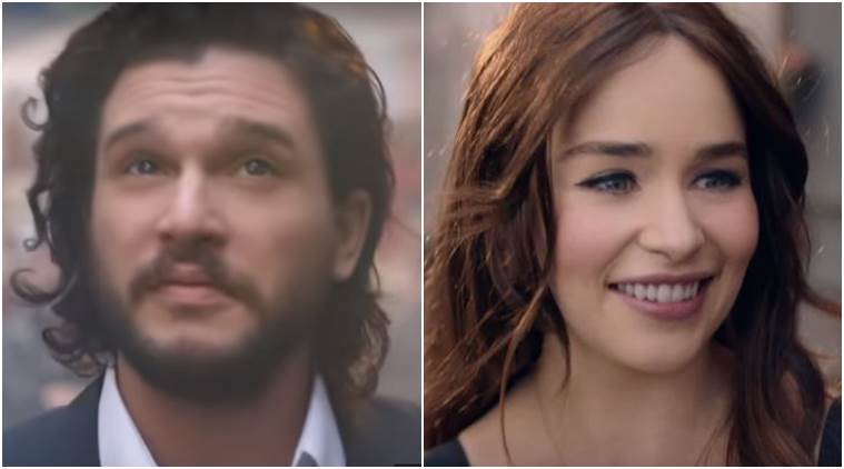 Watch Emilia Clarke And Kit Harrington S Recent Ad Is A Perfect