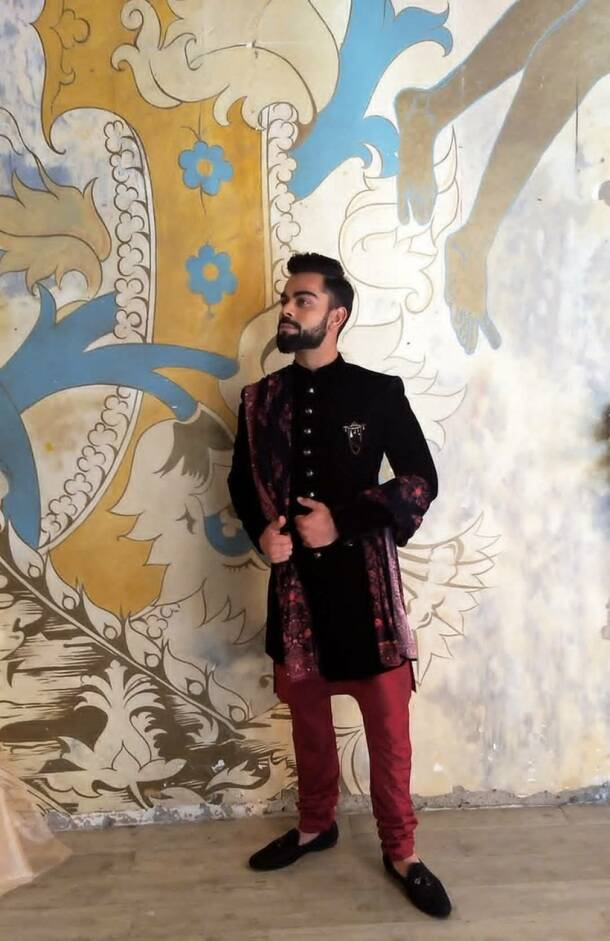 Virat kohli, anushka sharma, virushka, kohli, kohli indian attire, kohli anushka advertisement, cricket, indian express