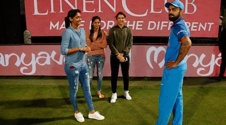 Virat Kohli, Smriti Mandhaha, Harmanpreet Kaur, sports news, cricket, Indian Express