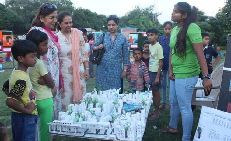art, gurgaon art festival, art work in delhi ncr, kanhai village, udaan ngo, art for children, indian express news