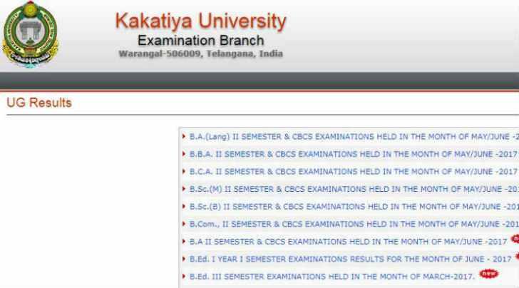 ku result, kuexams.org, kakatiya.ac.in, kuresults.in