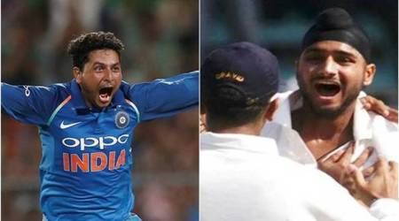 Kuldeep Yadav, Kuldeep Yadav hattrick, Harbhajan Singh, Harbhajan Singh hattrick, Eden Gardens, Australia, Australian national team, cricket news, indian express