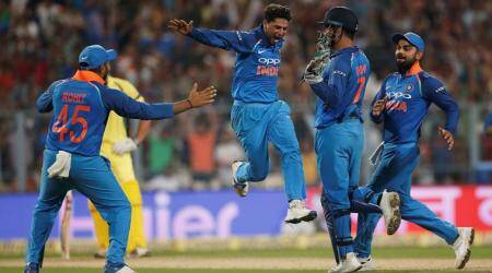 Kuldeep Yadav, Kuldeep, Harbhajan Singh, India vs Australia, Ind vs Aus, Australia tour of India 2017, Cricket news, Indian Express