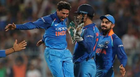 India vs Australia 2nd ODI: Kuldeep Yadav's historic hat-trick at Eden Gardens, watch video