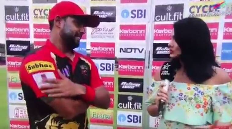Mayanti Langer blushes while interviewing hubby Stuart Binny on marriage anniversary