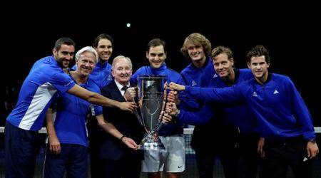 Roger Federer, Nick Kyrgios, Laver Cup, Rafael Nadal, sports gallery, tennis, Indian Express