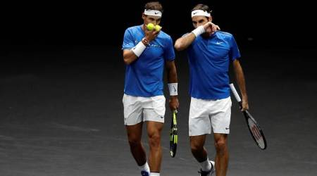 Roger Federer, Rafael Nadal team up, extend Europe's lead in Laver Cup