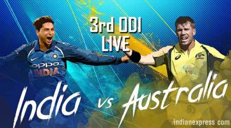India vs Australia Live Cricket Score 3rd ODI: India dismiss opener David Warner, pick first wicket against Australia