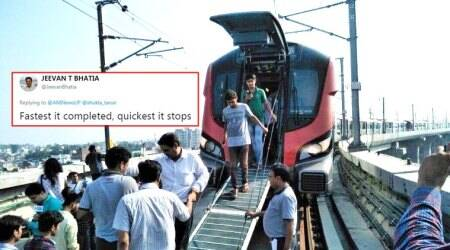 Lucknow Metro breaks down on first run; Twitterati respond with unforgiving humour
