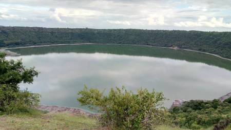 Lonar Lake's surface area is shrinking:Research