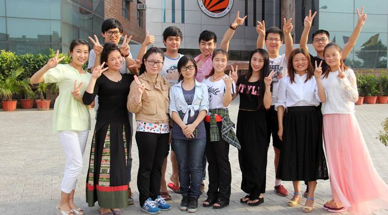 china students in india, chinese students, chinese students in india, india china, india china relations, lovely professional university, china india relations, indian express news