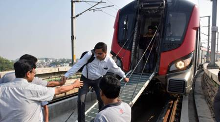 Among those stuck in Lucknow Metro were schoolchildren, senior citizens